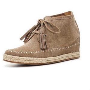 Crown Vintage MAC Ankle Boots Suede Hidden Wedge